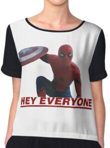 Hey Everyone - Spider-Man Chiffon Top