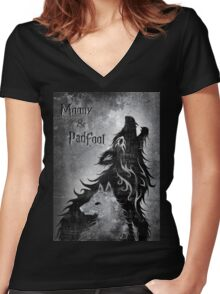 Moony & Padfoot Women's Fitted V-Neck T-Shirt
