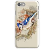 Bluejay Watercolor iPhone Case/Skin