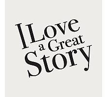 I love a great story - good old fashion books! Photographic Print