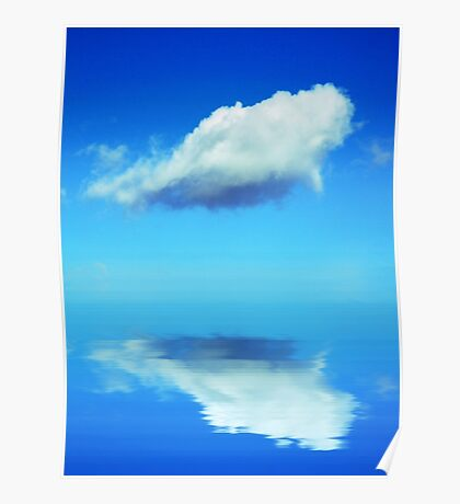 Cloud in blue sky Poster
