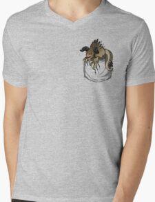 Pocket Deathclaw Mens V-Neck T-Shirt
