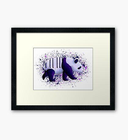 Piano Panda Framed Print