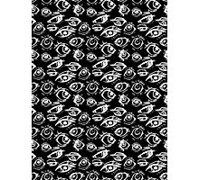 Eyes - black Photographic Print