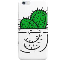 pocket breast pocket shirt funny kakten cactus flower pot cup small cute sweet green iPhone Case/Skin