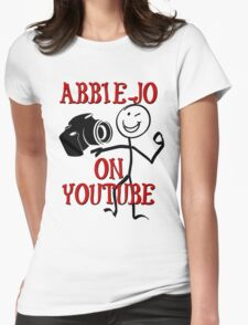 Abbie-Jo on YouTube Womens Fitted T-Shirt