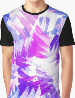 Purple Abstract Paint Pattern Graphic T-Shirt