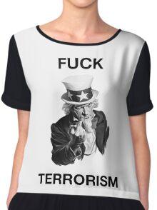 F Terrorism Chiffon Top
