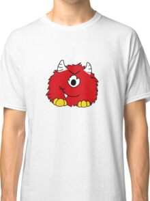Fuzzy Little Monsters - Red Classic T-Shirt