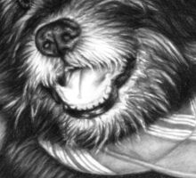 Laughing Dog Sticker