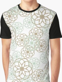 Green Floral Pattern Graphic T-Shirt