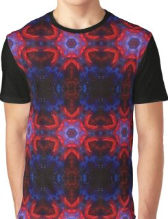 Space kaleidoscope with stars and glitter, red and blue Graphic T-Shirt