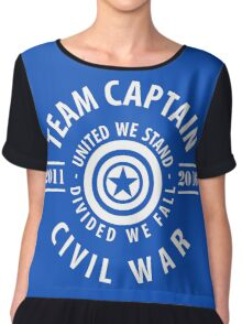 TEAM CAPTAIN - FIRST MOVIE TO CIVIL WAR Chiffon Top