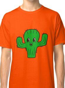 sweet cute little cactus face comic cartoon baby child Classic T-Shirt
