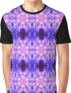 Cosmic kaleidoscope with pink and blue circles Graphic T-Shirt