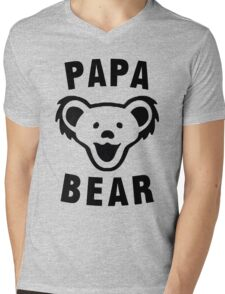 PAPA BEAR Mens V-Neck T-Shirt