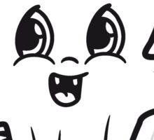 sweet cute little cactus face comic cartoon baby child Sticker