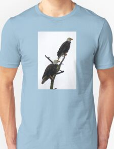 bald eagle pair in the rain Unisex T-Shirt