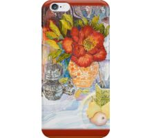 Red Peony Scarf L iPhone Case/Skin