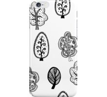 Cute black and white forest iPhone Case/Skin