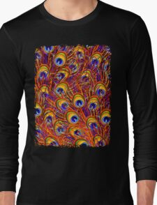 Peacock Feathers Colorful Pattern  Long Sleeve T-Shirt