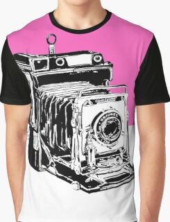Vintage Graphex Camera in Hot Pink Graphic T-Shirt