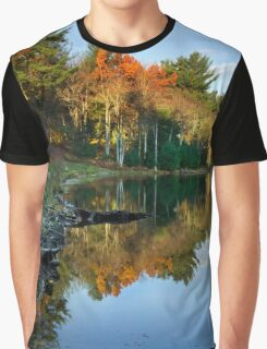 Colorful Fall Sunrise New York Landscape Graphic T-Shirt