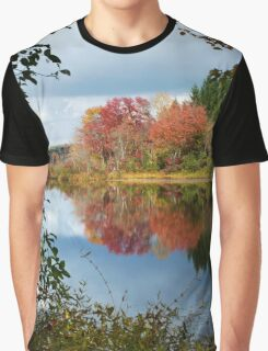 Colorful Fall Reflection Landscape Graphic T-Shirt