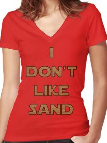 I don't like sand - version 2 Women's Fitted V-Neck T-Shirt