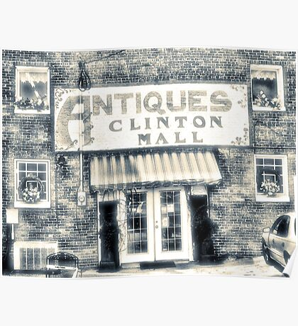 """Antiques... Clinton Mall, #4""... prints and products Poster"