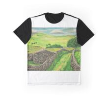 """Goat Scar Lane near Stainforth"" Graphic T-Shirt"