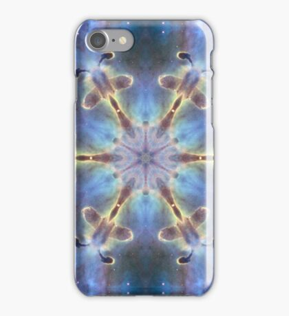 Flower power heaven sky design with sparkling stars iPhone Case/Skin