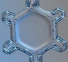 Dusty mirror, real snowflake macro photo Sticker