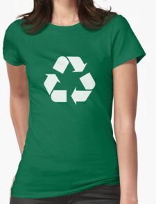 Recycle Go Green Womens Fitted T-Shirt