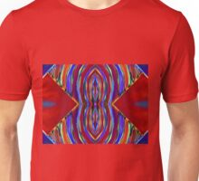 Psychedelic Red Flare Circles Unisex T-Shirt