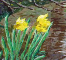 """Farndale Daffodils in the Spring"" Sticker"