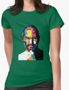 Steve Jobs | PolygonART Womens Fitted T-Shirt