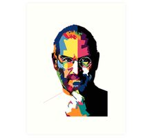 Steve Jobs | PolygonART Art Print