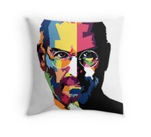 Steve Jobs | PolygonART Throw Pillow