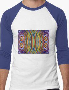 Psychedelic 4 Circle Supreme Men's Baseball ¾ T-Shirt