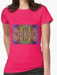 Psychedelic 4 Circle Supreme Womens Fitted T-Shirt