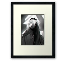 blackandwhite study Framed Print
