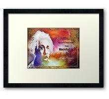 Einstein- imagination Framed Print