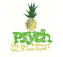 pinapple psych logo Photographic Print