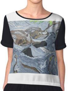 """Mating Frogs"" Chiffon Top"