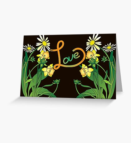 Daisies and daffodils Greeting Card