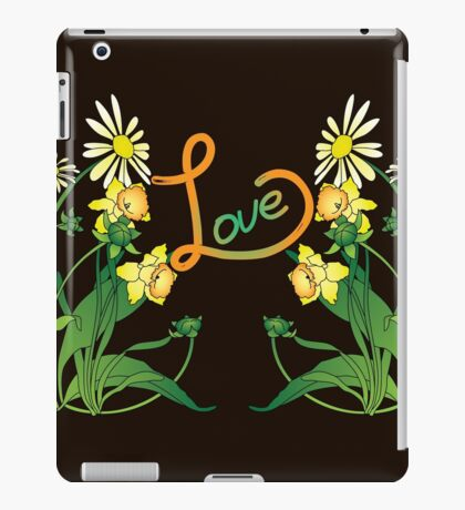 Daisies and daffodils iPad Case/Skin