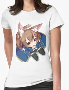 Chibi Silica Cute Womens Fitted T-Shirt