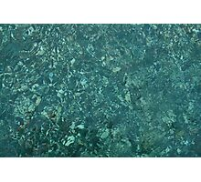 Stones in the crystal clear water Photographic Print