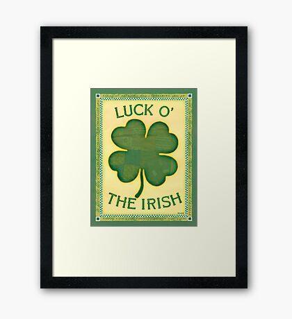 Luck O' the Irish Framed Print
